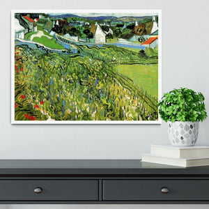 Vineyards with a View of Auvers by Van Gogh Framed Print - Canvas Art Rocks -6