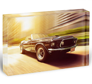 Vintage Car Acrylic Block - Canvas Art Rocks - 1
