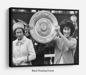 Virginia Wade tennis player Floating Frame Canvas
