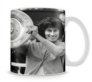 Virginia Wade tennis player Mug - Canvas Art Rocks - 1