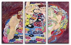 Virgins by Klimt 3 Split Panel Canvas Print - Canvas Art Rocks - 1