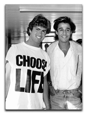 Wham's George Michael and George Ridgeley Print - Canvas Art Rocks - 1