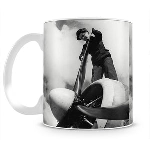 WW2 Oiling the propeller blade Mug - Canvas Art Rocks - 2