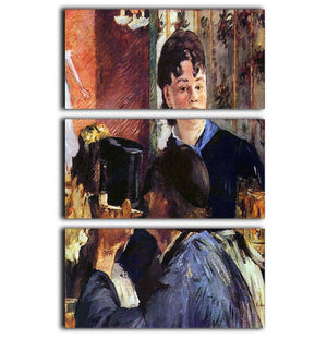 Waitress by Manet 3 Split Panel Canvas Print - Canvas Art Rocks - 1