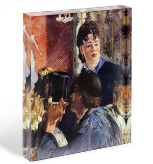 Waitress by Manet Acrylic Block - Canvas Art Rocks - 1