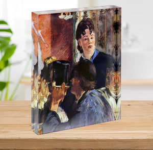 Waitress by Manet Acrylic Block - Canvas Art Rocks - 2