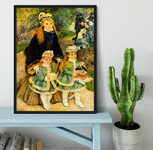 Walk by Renoir Framed Print - Canvas Art Rocks - 2
