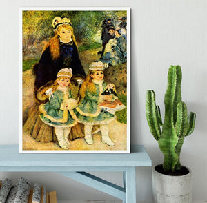 Walk by Renoir Framed Print - Canvas Art Rocks -6