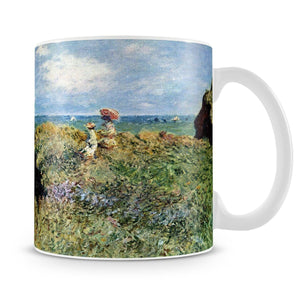 Walk on the cliffs by Monet Mug - Canvas Art Rocks - 4