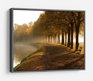 Walkway at the canal in morning HD Metal Print