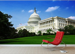 Washington DC Capitol from side Wall Mural Wallpaper - Canvas Art Rocks - 2