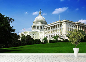 Washington DC Capitol from side Wall Mural Wallpaper - Canvas Art Rocks - 4