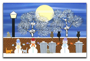 Watching the snow moon by Gordon Barker Canvas Print or Poster - Canvas Art Rocks - 1