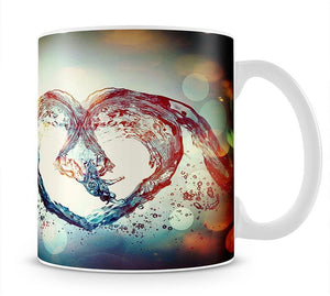 Water Heart Mug - Canvas Art Rocks - 1