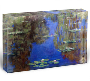 Water Lilies 6 By Manet Acrylic Block - Canvas Art Rocks - 1