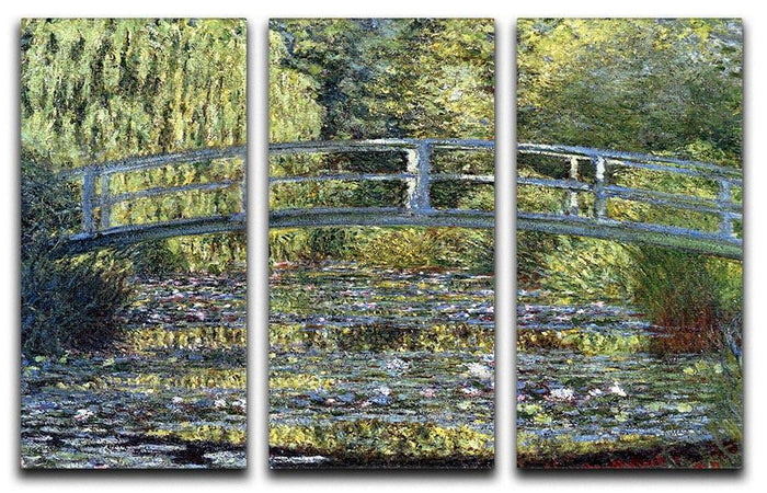 Water Lilies 9 by Monet Split Panel Canvas Print