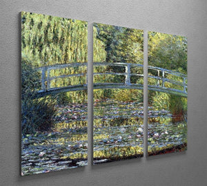 Water Lilies 9 by Monet Split Panel Canvas Print - Canvas Art Rocks - 4
