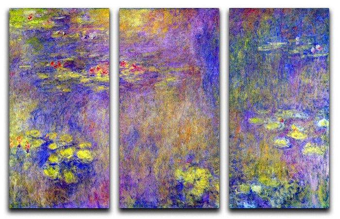 Water Lilies Yellow nirvana by Monet Split Panel Canvas Print