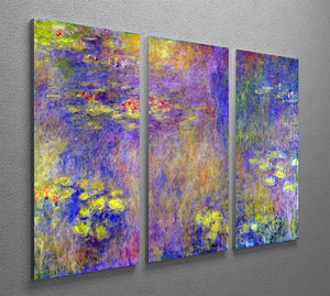 Water Lilies Yellow nirvana by Monet Split Panel Canvas Print - Canvas Art Rocks - 4