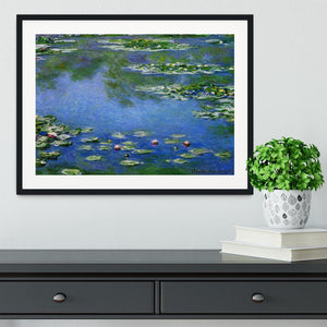 Water Lilies by Monet Framed Print - Canvas Art Rocks - 1