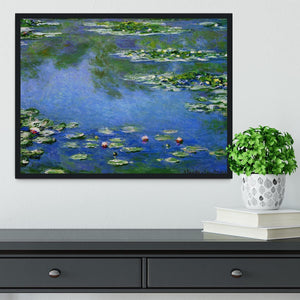 Water Lilies by Monet Framed Print - Canvas Art Rocks - 2