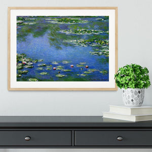Water Lilies by Monet Framed Print - Canvas Art Rocks - 3