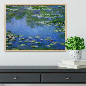 Water Lilies by Monet Framed Print - Canvas Art Rocks - 4