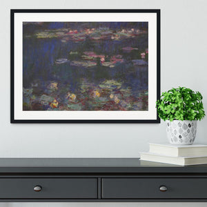 Water Lillies 11 by Monet Framed Print - Canvas Art Rocks - 1
