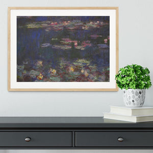 Water Lillies 11 by Monet Framed Print - Canvas Art Rocks - 3