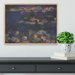Water Lillies 11 by Monet Framed Print - Canvas Art Rocks - 4