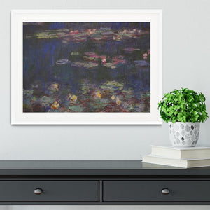 Water Lillies 11 by Monet Framed Print - Canvas Art Rocks - 5
