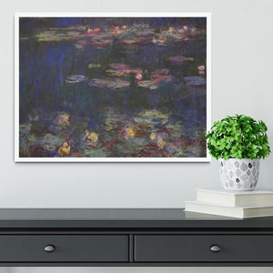 Water Lillies 11 by Monet Framed Print - Canvas Art Rocks -6
