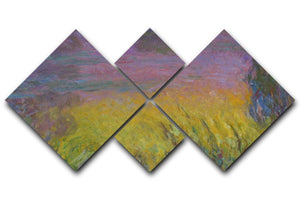 Water Lillies 12 by Monet 4 Square Multi Panel Canvas  - Canvas Art Rocks - 1