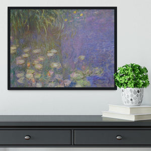 Water Lillies 13 by Monet Framed Print - Canvas Art Rocks - 2