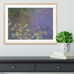 Water Lillies 13 by Monet Framed Print - Canvas Art Rocks - 3