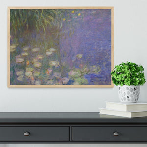 Water Lillies 13 by Monet Framed Print - Canvas Art Rocks - 4