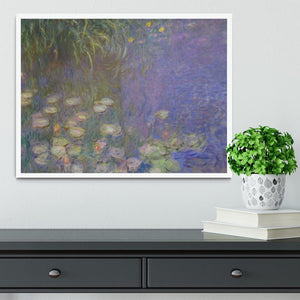 Water Lillies 13 by Monet Framed Print - Canvas Art Rocks -6