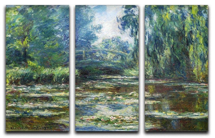 Water Lillies in Monets Garden by Monet Split Panel Canvas Print