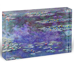 Water Lily Pond 3 by Monet Acrylic Block - Canvas Art Rocks - 1