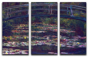 Water Lily Pond 5 by Monet Split Panel Canvas Print - Canvas Art Rocks - 4