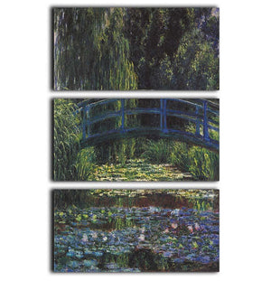 Water Lily Pond 6 by Monet 3 Split Panel Canvas Print - Canvas Art Rocks - 1