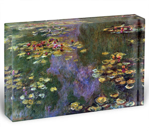 Water Lily Pond Giverny by Monet Acrylic Block - Canvas Art Rocks - 1