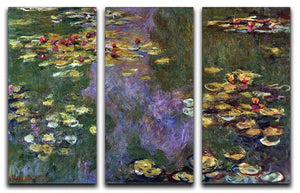 Water Lily Pond Giverny by Monet Split Panel Canvas Print - Canvas Art Rocks - 4