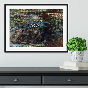 Water garden at Giverny by Monet Framed Print - Canvas Art Rocks - 1