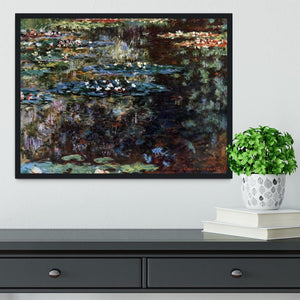 Water garden at Giverny by Monet Framed Print - Canvas Art Rocks - 2