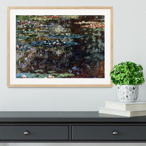 Water garden at Giverny by Monet Framed Print - Canvas Art Rocks - 3