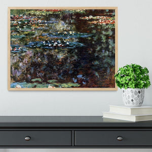 Water garden at Giverny by Monet Framed Print - Canvas Art Rocks - 4