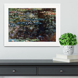 Water garden at Giverny by Monet Framed Print - Canvas Art Rocks - 5