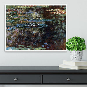 Water garden at Giverny by Monet Framed Print - Canvas Art Rocks -6