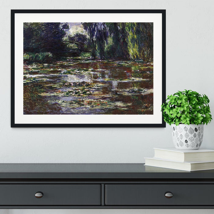 Water lilies water landscape 3 by Monet Framed Print